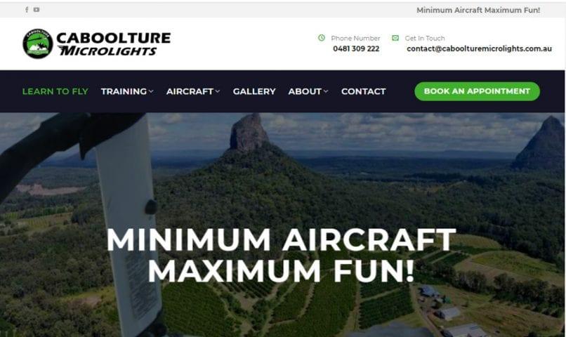 Caboolture Microlights 1 Bribie Island Web Design