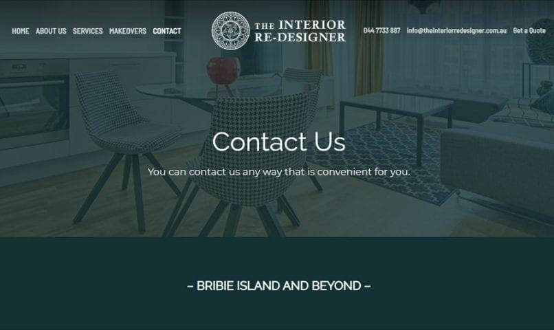 The Interior ReDesigner 3 Bribie Island Web Design