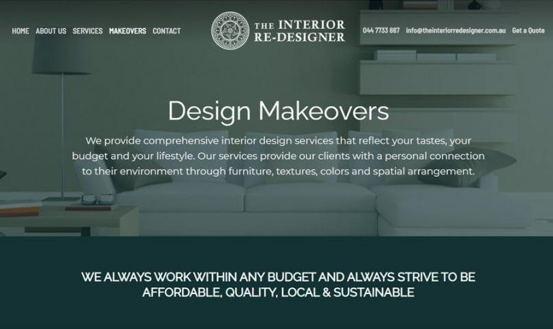 The Interior ReDesigner 7 Bribie Island Web Design